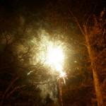 Пожар от удара от молнии