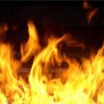 Сгорело 12 тонн соломы