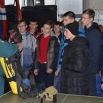Старшеклассников учили пожарной безопасности