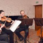 Звуки скрипки, альта и виолончели