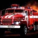 Пожар в центре Глуска (видео)