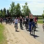 Велофлешмоб посвятили Победе