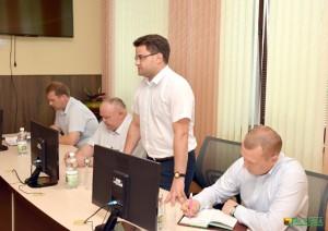 На сходзе прысутнічалі (злева направа) Андрэй Баброўнік, Уладзімір Царыкаў, Дзмітрый Цімчанка, Сяргей Максімовіч