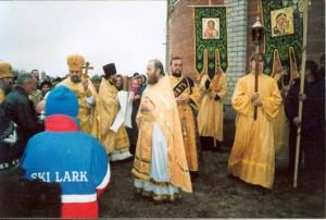 Освящение Богоявленского храма. 24 ноября 2002 года