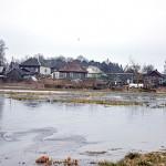 Разлив в парке между улицей Советской в Глуске и рекой Птичь