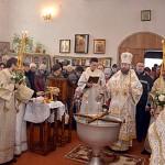 На праздник Крещения в Богоявленском храме в Глуске (фоторепортаж)