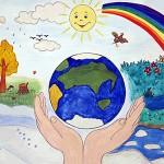 В феврале стартовал первый этап республиканского конкурса на лучший детский рисунок на экологическую тематику