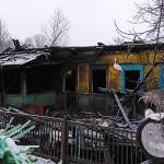 В Сельцах сгорел дом