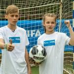 Белорусские участники международной детской социальной программы «Футбол для дружбы» приняли участие в презентации проекта в рамках 22 Международной специализированной выставки «СМІ ў Беларусі»