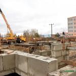 Строительство 60-квартирного дома началось в Глуске на улице Гагарина, 37
